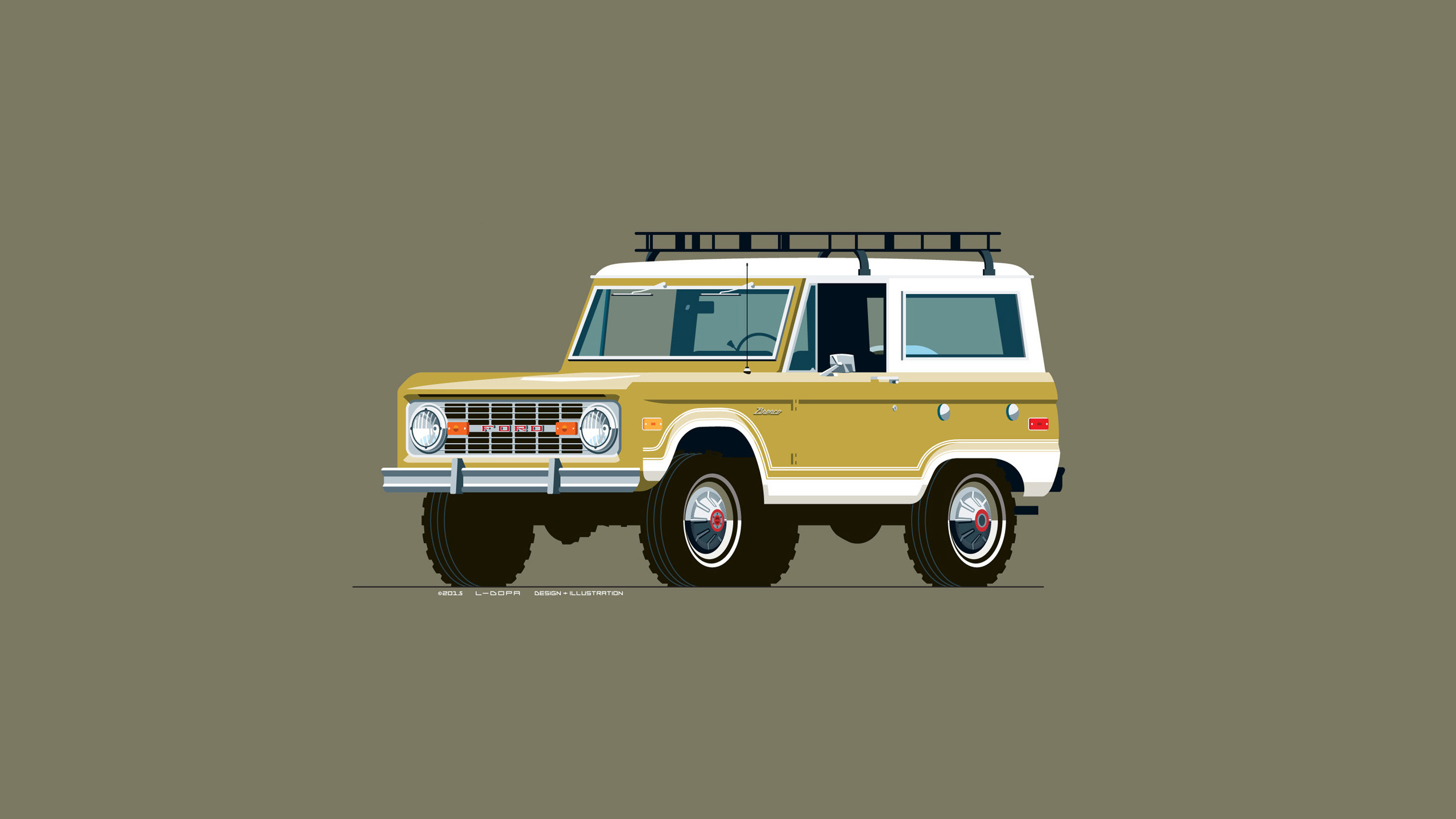 New Drawing A 1969 Ford Bronco In Tucson Gold Oc