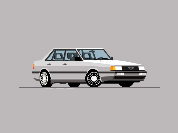 Audi 4000 CS Quattro, L-Dopa illustration
